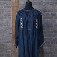 "late 19th c.  french black linen maquignon work coat  ""embroidery"""