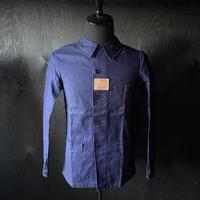 "mid 20th c. French indigo  work jacket dead stock ""metis"""