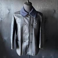 "mid 20th c. france vintage black leather jacket ""le corbusier type"""
