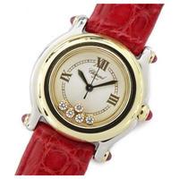 ショパール chopard ハッピースポーツ コンビ 5pダイヤ 腕時計