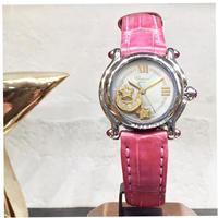 美品✨ショパール ハッピースポーツ ダイヤ 腕時計レディース