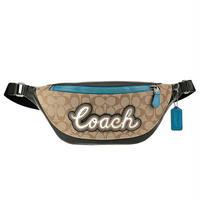 COACH/コーチ メンズ ロゴ シグネチャー ボディバッグ ヒップバッグ