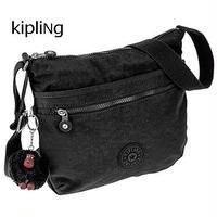 【送料無料】KIPLING/キプリング レディース 薄マチ 斜めがけ ショルダーバッグ TRUE BLACK