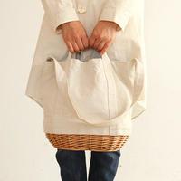 【送料無料】【CARMELINA(カルメリーナ)】柳キャンバスバッグ Lサイズ 3色 [*かごバッグ/カゴ*]