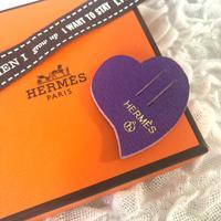 【Hermes】エルメス プティアッシュ 非売品 チャーム ハート 紫