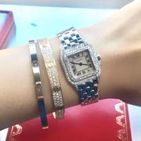 美品✨カルティエ Cartier パンテール SM二重ダイヤモンドベゼル