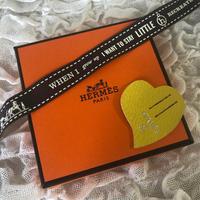 【Hermes】エルメス プティアッシュ 非売品 チャーム ハート 黄色