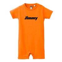 【ベビー】Basic Logo Baby Rompers - オレンジ