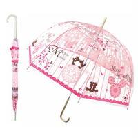 【送料無料】オシャレで可愛い大人ビニール傘が登場! キティ   大人ビニール傘 60cm キャラクター長傘