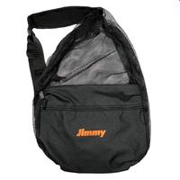 Basic Logo Mesh Shoulder Bag - ブラック