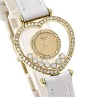 美品✨Chopard ショパール ハッピーダイヤモンド ダイヤベゼル✨腕時計