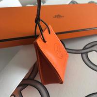 【Hermes】国内未入荷 エルメス ショッパー チャーム オレンジ紙袋 レシート有 新品