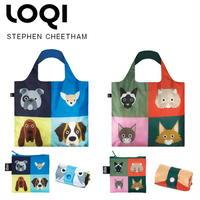 LOQI(ローキー)エコバッグ Artist Collection CHEETHAM/Dogs ドッグ犬