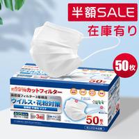 250枚  小林薬品 ウイルス・花粉対策 3層 マスク 大人用サイズ 50枚入X5箱