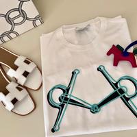 【HERMES】完売 エルメス メンズ Tシャツ プラス モール プリント シャツ 新品 XL