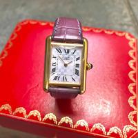 美品✨カルティエ Cartier パープル マストタンク アクアリーノ 腕時計