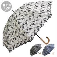 2020新作:春夏 日傘 バティックレース 刺繍 ショート日傘 母の日 ギフト 紫外線 UV 日除け