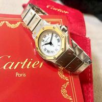 美品✨カルティエ Cartier サントスオクタゴン レディース デイト