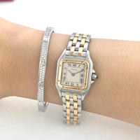 美品✨カルティエ Cartier パンテール2ロウ コンビ 腕時計レディース