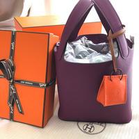 【Hermes】レア 新品 ピコタンロック アネモネ ピコタン シルバー金具 紫 エルメス