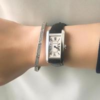 美品✨カルティエ Cartier K18WGタンクアメリカンSM 腕時計