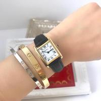 美品✨カルティエ Cartier ミニマストタンク 手巻き腕時計 レディース