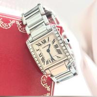 美品✨ダイヤカルティエ Cartier タンクフランセーズ SM 腕時計