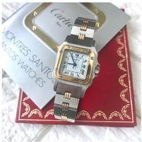 磨き済み✨ カルティエ Cartier サントスレディース コンビ 腕時計 SM