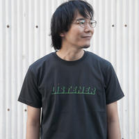 ヘビーリスナーTシャツ スミクロ UNISEX XS〜XXL