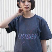 リスナーTシャツ ヘザーネイビー UNISEX S〜XXXL