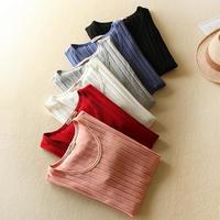 半袖Tシャツ ストライプTシャツ クールネックTシャツ レディース