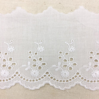 Scalloped Cotton Lace Trim / Off White / 2m