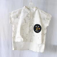 """顔つきシャツ """"COTTON SPDX  A SHIRT""""like a STONE  / arkakama(アルカカマ)"""