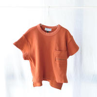 ポケットワイドTシャツ(ワッフル) POCKET WIDE S/S Waffle TEE  BRIC / arkakama(アルカカマ)
