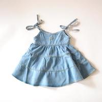 ワンピース Light denim baby dress with inner body / tocotovintage (トコトヴィンテージ)