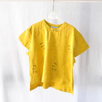 Tシャツ COTTON SPDX WIDE S/S TEE oh my GOD mustard  / arkakama(アルカカマ)
