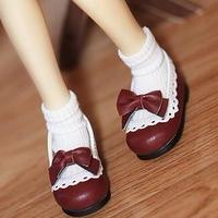 MDD ドール靴 ミニドルフィードリーム靴 リボンパンプス(レッド)