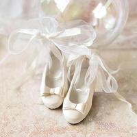 MDD 1/4 ドール靴 ミニドルフィードリーム靴 リボンレース パンプス(ホワイト)