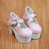 MDD ドール靴 ミニドルフィードリーム 厚底 ヒールパンプス(ピンク)