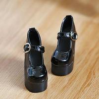 MDD ドール靴 ミニドルフィードリーム 厚底 ヒールパンプス(ブラック)