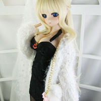 DD,1/3ドルフィードリーム  ドール衣装 ミニワンピース ファーコート セット服