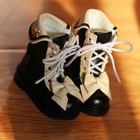 MDDブーツ ミニドルフィードリーム靴 リボンシューズ(ブラック)