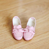 DD 靴 ドルフィードリーム シューズ 人形用 ローファー(ピンク)