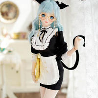 DDドール服 ドルフィードリーム コスチューム  子猫 メイド服セット