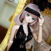 DD,SD16 ドルフィードリーム洋服 うさぎのセクシーワンピース(ブラック)
