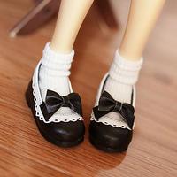 MDD ドール靴 ミニドルフィードリーム靴 リボンパンプス(ブラック)