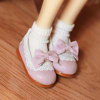 MDD ドール靴 ミニドルフィードリーム靴 リボンパンプス(ピンク)