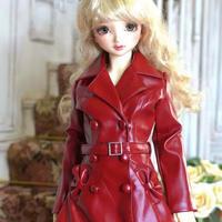 DDサイズ ドルフィードリーム 洋服 赤 コート ドール服