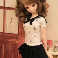 DD,1/3 ドルフィードリーム服 ドール衣装 ミニスカート制服セット
