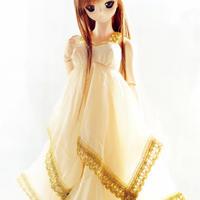 DD,1/3 ドルフィードリーム服 ドール衣装 ロングドレス